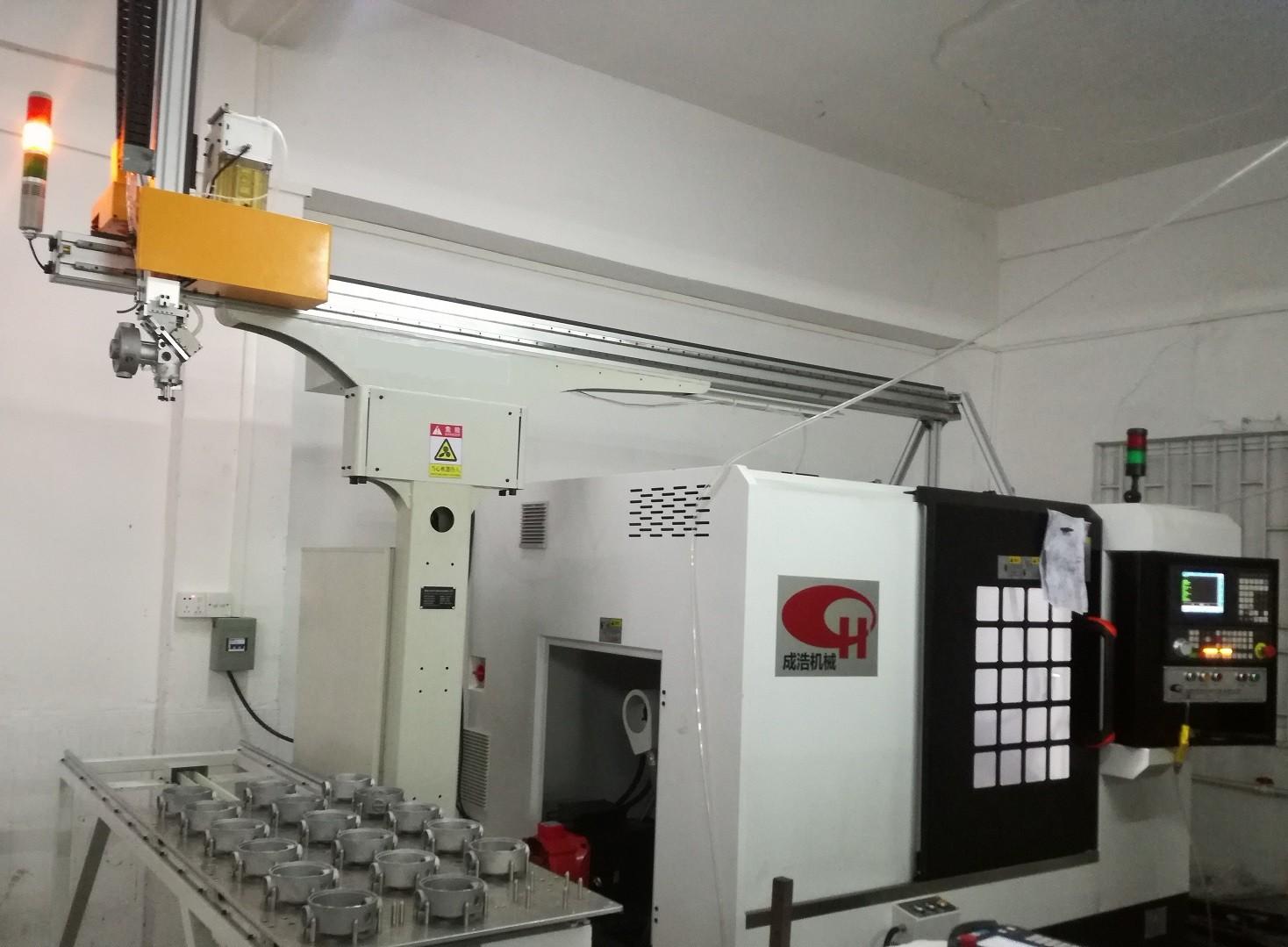 电机端盖CNC车床自动上下料机械手案例图片1