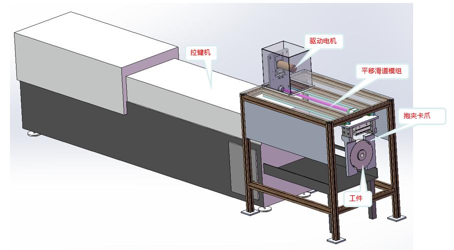 拉键机自动上下料机构设计及动作流程说明